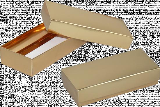 pudełko 18x18x4 złote błysk