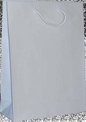torba papierowa kraftlux 24x9x33 biała