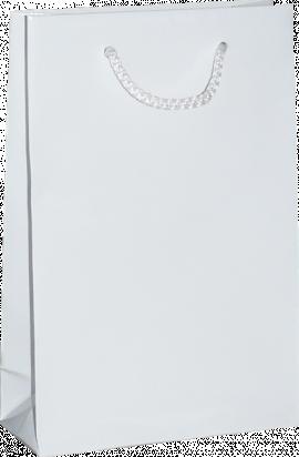 torba papierowa laminowana lulux 30x10x40 biała błysk