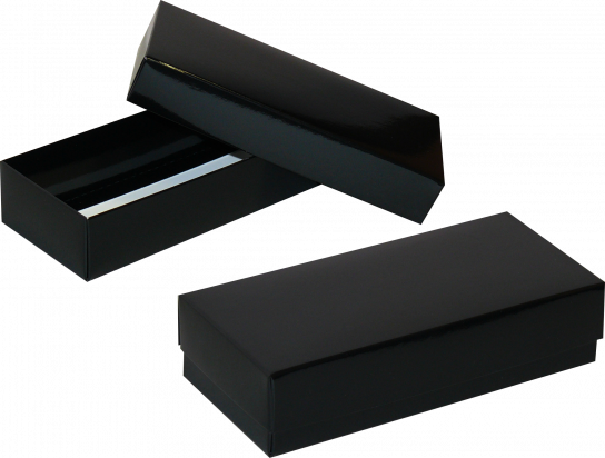 pudełko 18x18x4 czarne błysk
