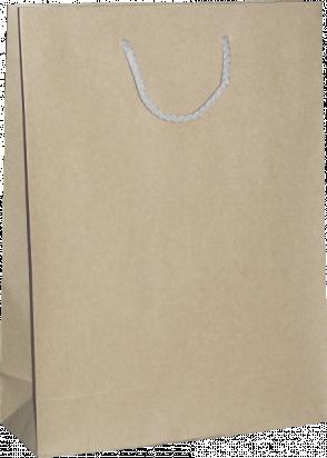 torba papierowa kraftlux 24x9x33 beżowa