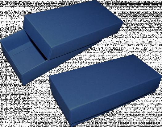 pudełko 18x8x4 niebieskie