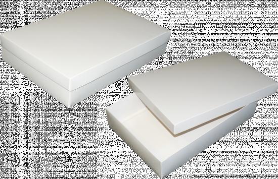 pudełko 35x24x7 białe błysk
