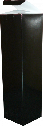 pudełko na butelkę 9x9x34 czarne błysk