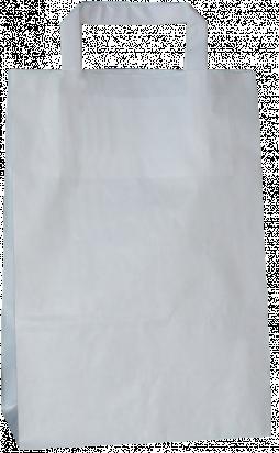 torba papierowa z uchwytem płaskim 22 x 11 x 31 biała