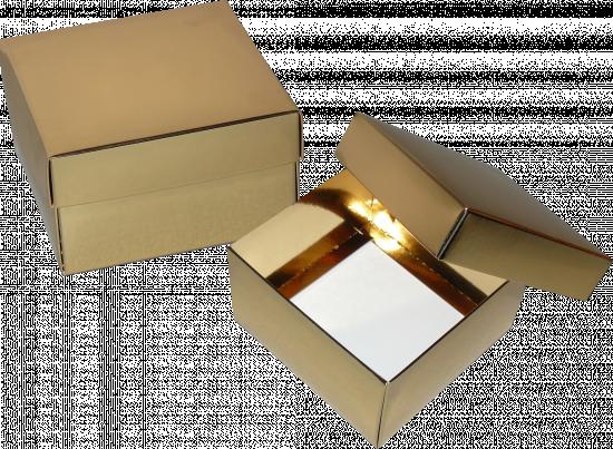 pudełko 12x12x7 złote błysk