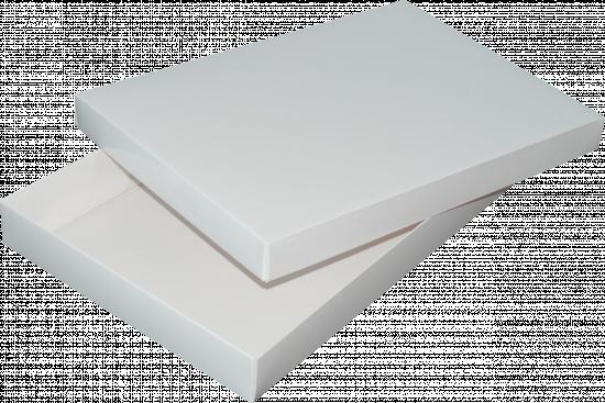 pudełko 35x24x4 białe błysk