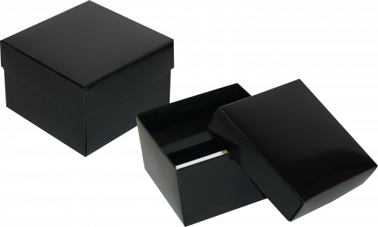 pudełko 12x12x7 czarne błysk