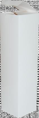 pudełko na butelkę 9x9x34 białe błysk