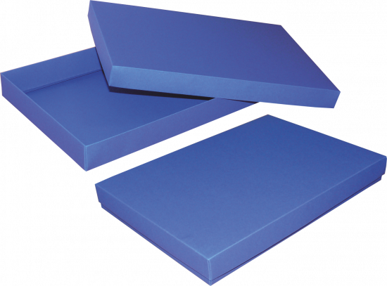 pudełko 35x24x4 niebieskie