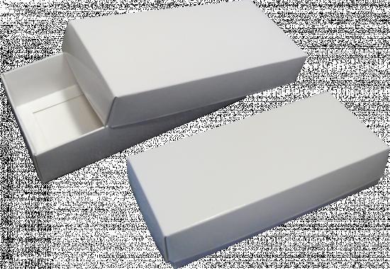 pudełko 18x8x4 białe błysk
