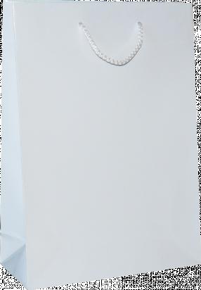 torba papierowa lakierowana 38x10x35 biała
