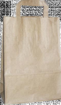 torba papierowa z uchwytem płaskim 18 x 8,5 x 23 beżowa