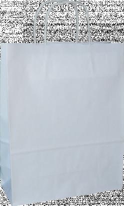 torba papierowa z uchwytem skręcanym 31x12x41 biała gładka