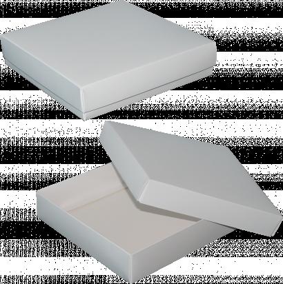 pudełko 18x18x4 białe błysk