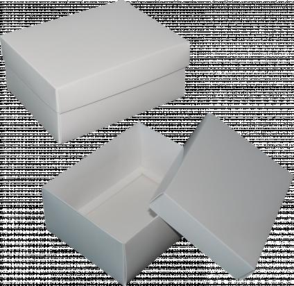 pudełko 16x12,5x7 białe błysk