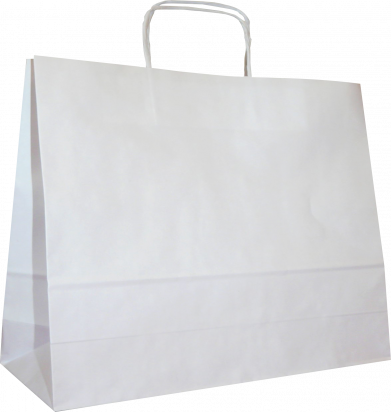 torba papierowa z uchwytem skręcanym 54x15x46 beż prążek