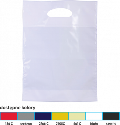 torba foliowa market 35x45 srebrna