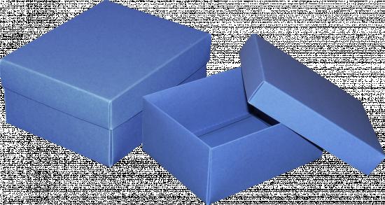 pudełko 16x12,5x7 niebieskie