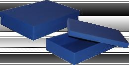 pudełko 35x24x7 niebieskie