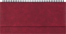 Kalendarz biurowy MANAGER LUX  (H2), 22 - bordo indi  2021