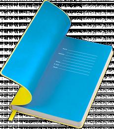 notes funky żółto-niebieski