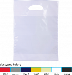 torba foliowa market 25x35 żółta