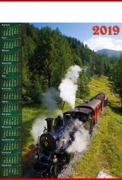 kalendarz plakatowy b-1 2019, p08 - pociąg 2019