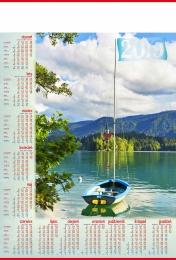 kalendarz plakatowy b-1 2019, p21 - żaglówka 2019