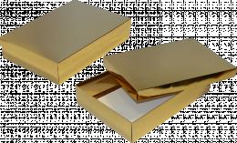 pudełko 35x24x7 złote błysk