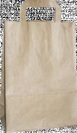 torba papierowa z uchwytem płaskim 22 x 11 x 31 beżowa