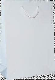 torba papierowa lakierowana 16x7x24 biała