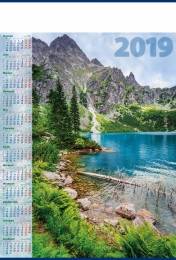 kalendarz plakatowy b-1 2019, p01 - morskie oko