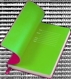 notes funky różowo-zielony