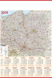 kalendarz plakatowy b-1 2019, p22 - mapa 2019