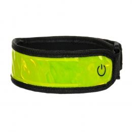 opaska odblaskowa led - new style - żółta