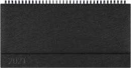 Kalendarz biurowy MANAGER LUX  (H2), 21 - czarny indi 2021