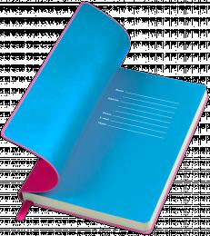 notes funky różowo-niebieski