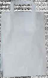 torba papierowa z uchwytem płaskim 18 x 8,5 x 23 biała